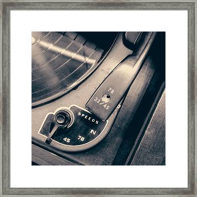 Webcor Musicale Phonograph Framed Print