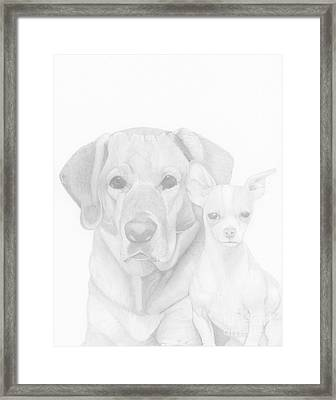 Webster And Lulu Framed Print