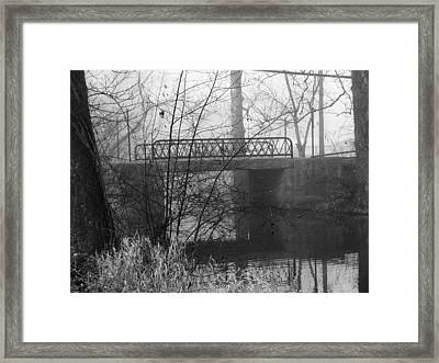 Webster Bridge Framed Print by Michael L Kimble