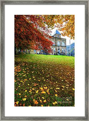 Webster County Courthouse Autumn Framed Print by Thomas R Fletcher