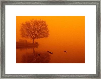 Webster Lake Sunrise Framed Print by Michael L Kimble