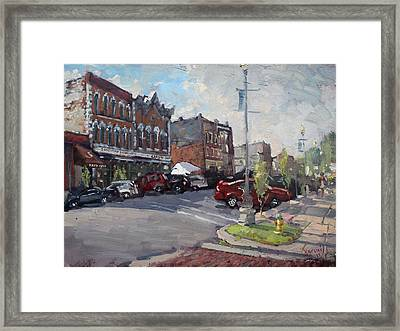 Webster Street North Tonawanda Framed Print by Ylli Haruni