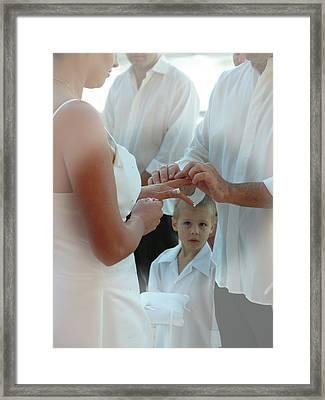 Wedding 4 Framed Print by Elisabeth Dubois