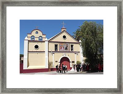 Wedding At La Placita - Los Angeles Framed Print by Michele Myers