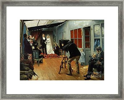 Wedding At The Photographer's Framed Print by Pascal Adolphe Jean Dagnan-Bouveret