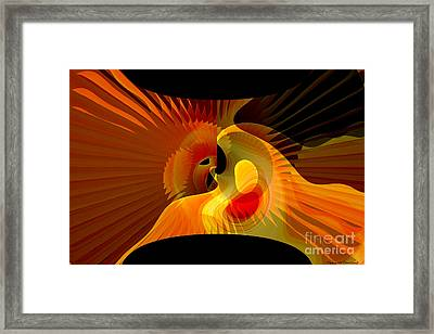 Wedding Between Sun And  Moon  Framed Print