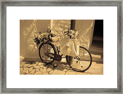 Wedding Bike Framed Print