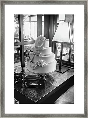Wedding Cake Bw Series 0956 Framed Print