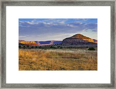 Framed Print featuring the photograph Wedding Cake Ranch by Charles Warren