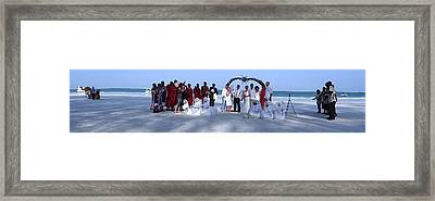 Wedding Complete Panoramic Kenya Beach Framed Print