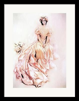 Satin Dress Mixed Media Framed Prints