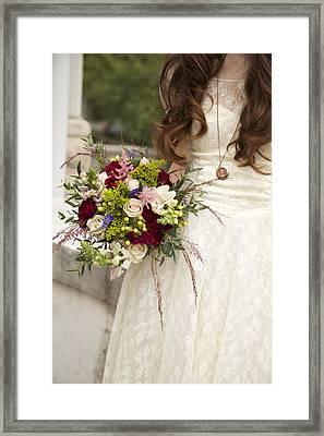 Wedding Details Framed Print