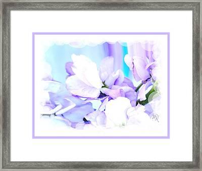 Wedding Flower Pedals Framed Print by Marsha Heiken