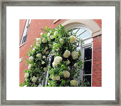 Wedding Flowers On Decatur House Framed Print by Cora Wandel
