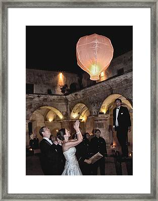 Wedding Globos Framed Print by David April