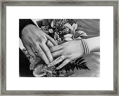 Wedding Hands Framed Print by Doug Strickland