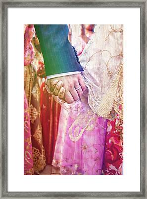 Wedding Hands Framed Print
