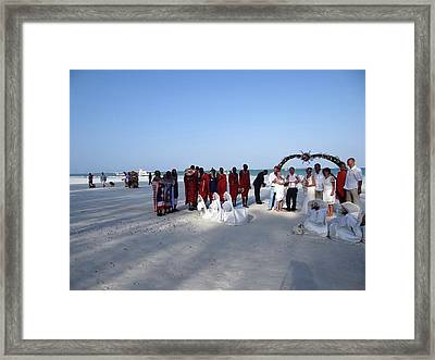 Wedding In The Afternoon Shadow Framed Print