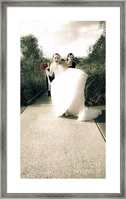 Wedding Joy Framed Print by Jorgo Photography - Wall Art Gallery