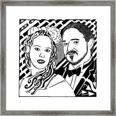 Wedding Maze Framed Print by Yonatan Frimer Maze Artist