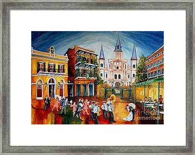 Wedding New Orleans' Style Framed Print by Diane Millsap