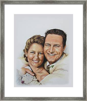 Wedding Portrait Jeremy N Katie Framed Print