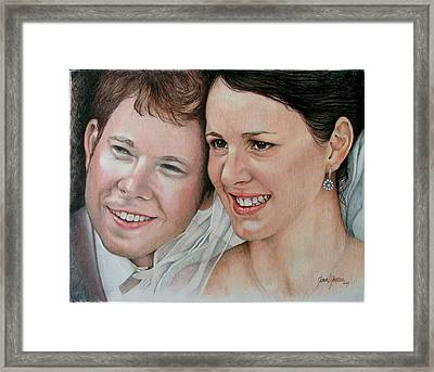 Wedding Portrait Framed Print