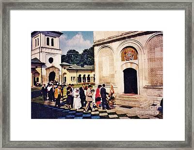 Wedding Procession In Muntenia Framed Print by Sarah Loft