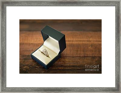 Wedding Ring In Box Horizontal Framed Print by Taylor Martinsen
