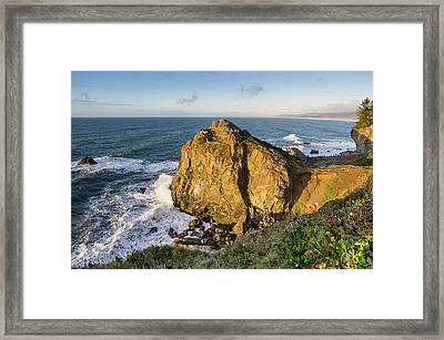 Wedding Rock Evening Light Framed Print