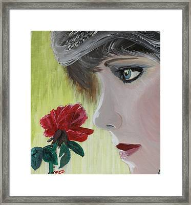 Wedding Rose Framed Print by J Bauer