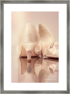 Wedding Sandals Framed Print by Amanda Elwell