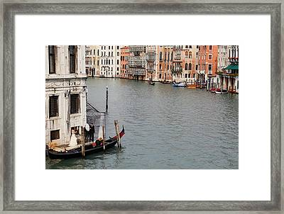 Wedding Shoot On The Grand Canal Framed Print