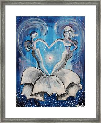 Framed Print featuring the painting Wedding by Sladjana Lazarevic