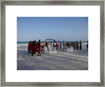 wedding with Maasai singers Framed Print