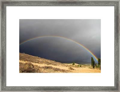 Wednesday Morning Rainbow Framed Print
