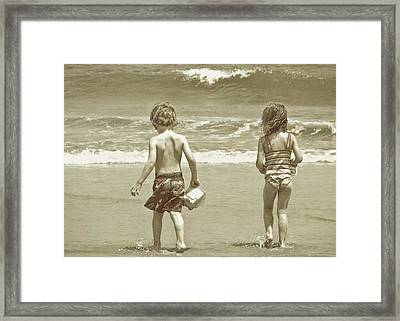 Wee Beachcombers Framed Print by JAMART Photography