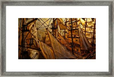 Framed Print featuring the photograph Wee Sails by Cameron Wood