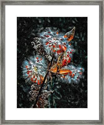 Weed Galaxy Painted Version  Framed Print by Steve Harrington