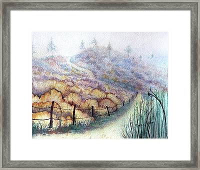 Weeds On A Hill, Carbon Canyon Framed Print