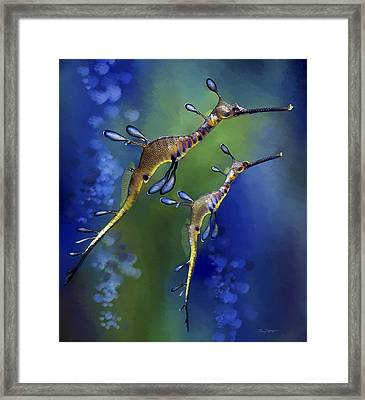 Weedy Sea Dragon Framed Print by Thanh Thuy Nguyen