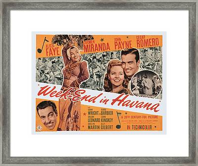 Week-end In Havana, Cesar Romero Framed Print by Everett