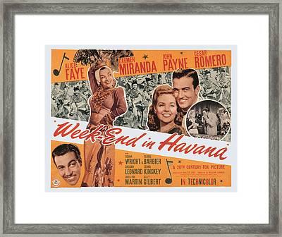 Week-end In Havana, Cesar Romero Framed Print