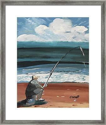 Weekend Fisherman Framed Print