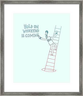 Weekend Hero Framed Print by Illustratorial Pulse