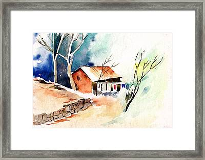 Weekend House Framed Print by Anil Nene