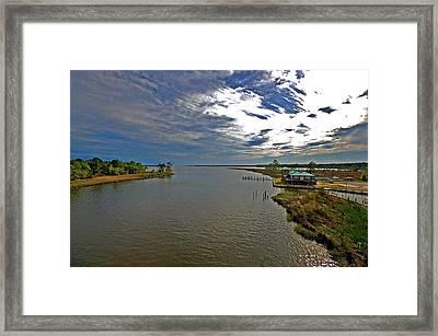 Weeks Bay At Sunset Framed Print by Michael Thomas