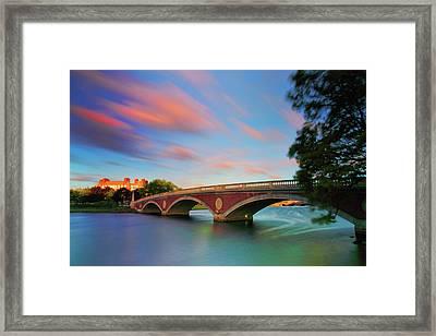 Weeks' Bridge Framed Print by Rick Berk