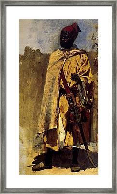 Weeks Edwin Moorish Guard Framed Print