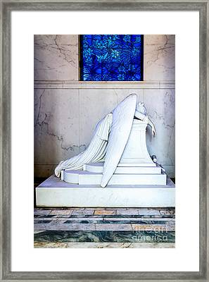 Weeping Angel, New Orleans 1 Framed Print by Mary  Smyth